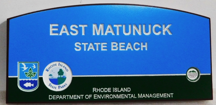 G16216 -  Large Engraved HDU Sign for East Matunuck Beach in Rhode Island