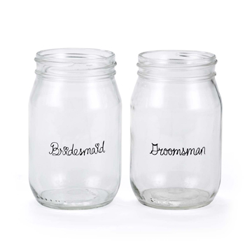 Wedding Party Drinking Jars - Bridesmaid & Groomsman