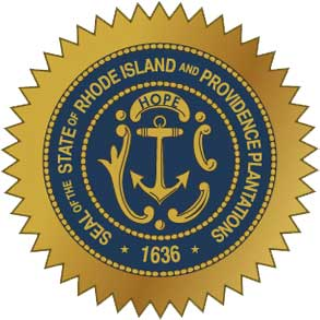 W32440 - Great Seal of Rhode Island Wall  Plaque