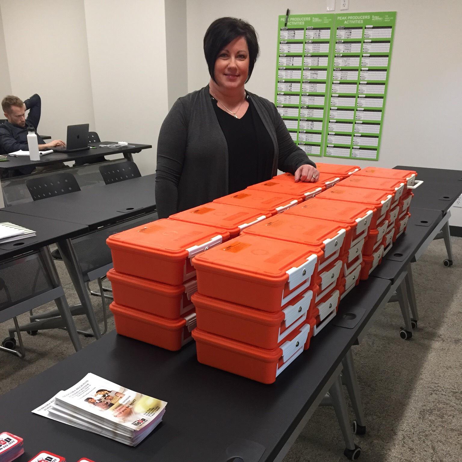Distributing drug lock-up boxes