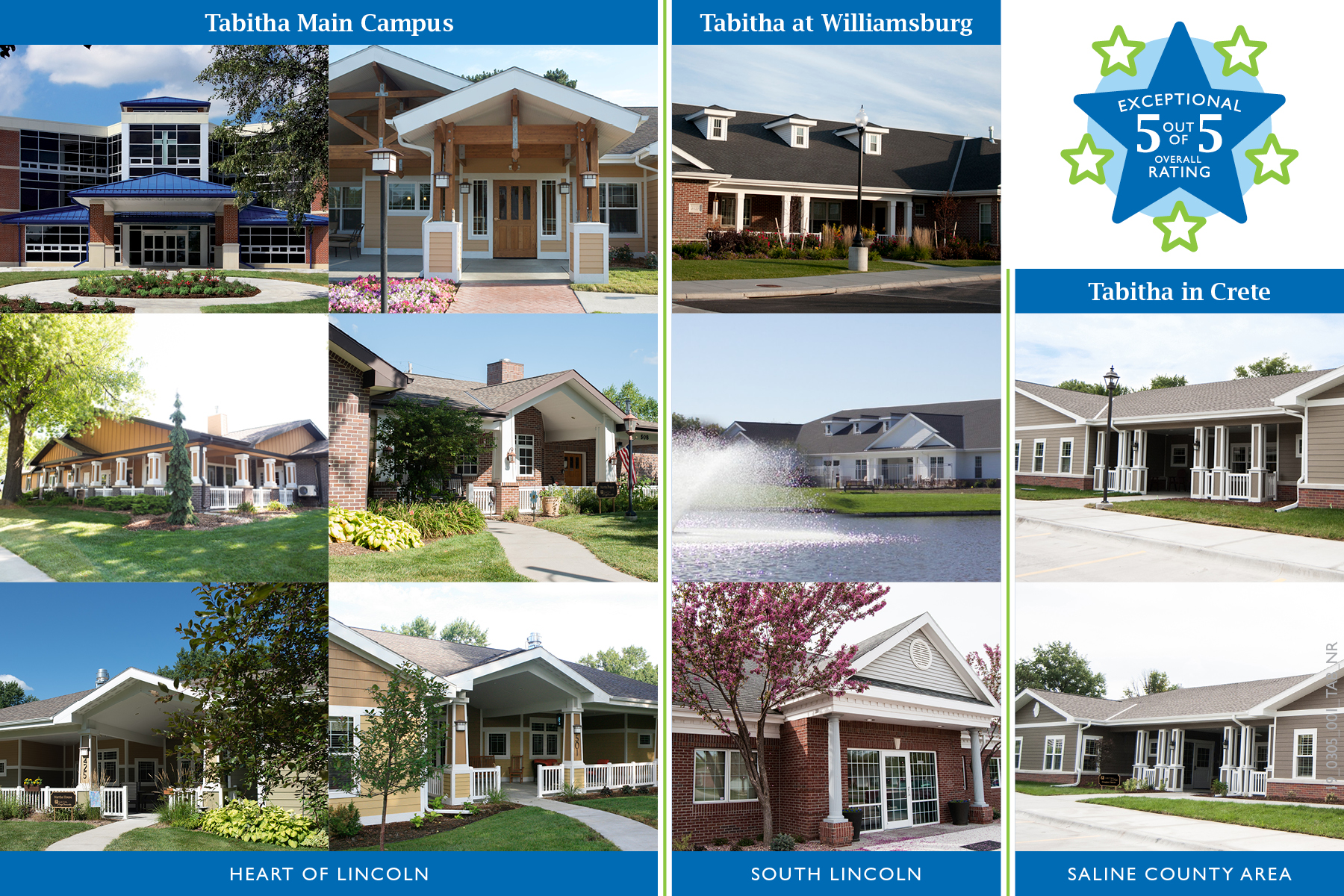 Perfect Ratings for Tabitha Senior Living Communities