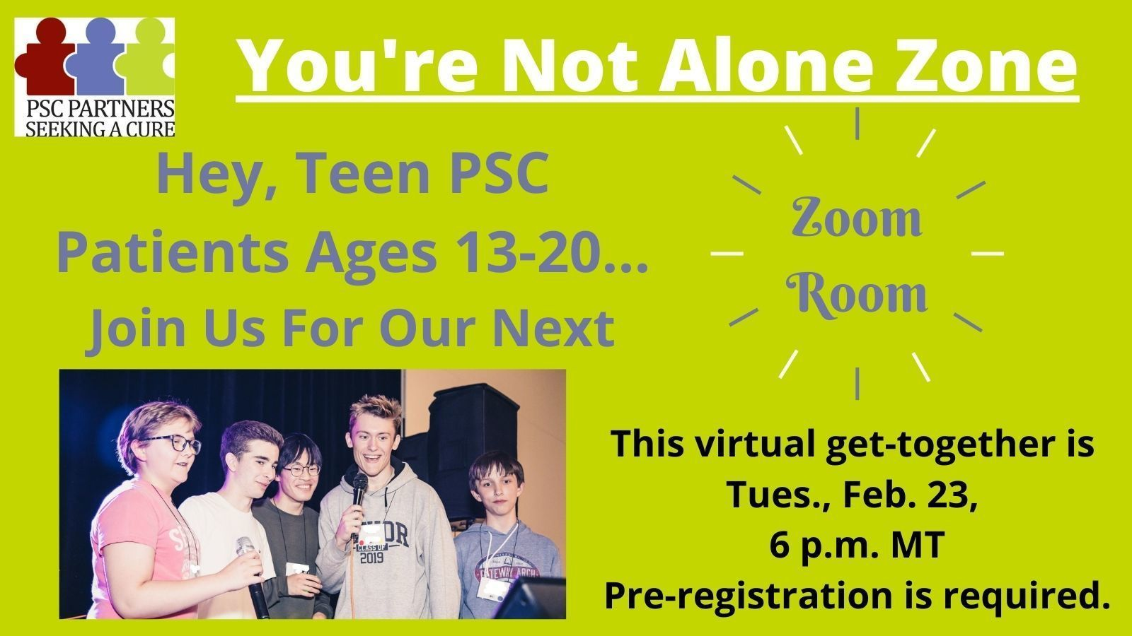 ZoomRoom for Teens (13-20)