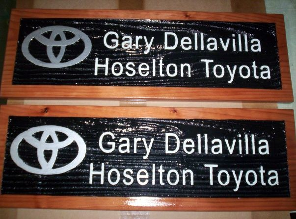 SB28815 - Small Carved Wall Signs for Gary Dellaville Hoselton Toyota.