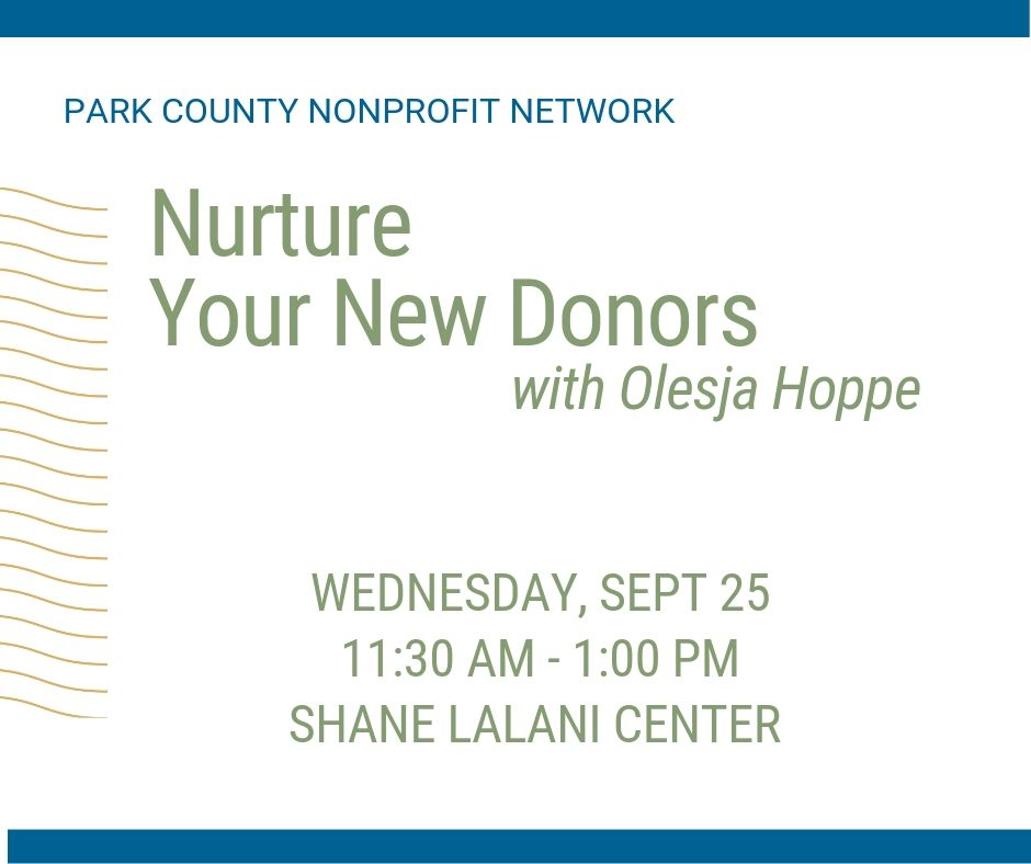 Nurture Your New Donors