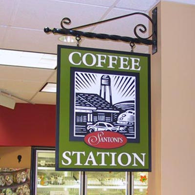 Santoni's Coffee Station sign
