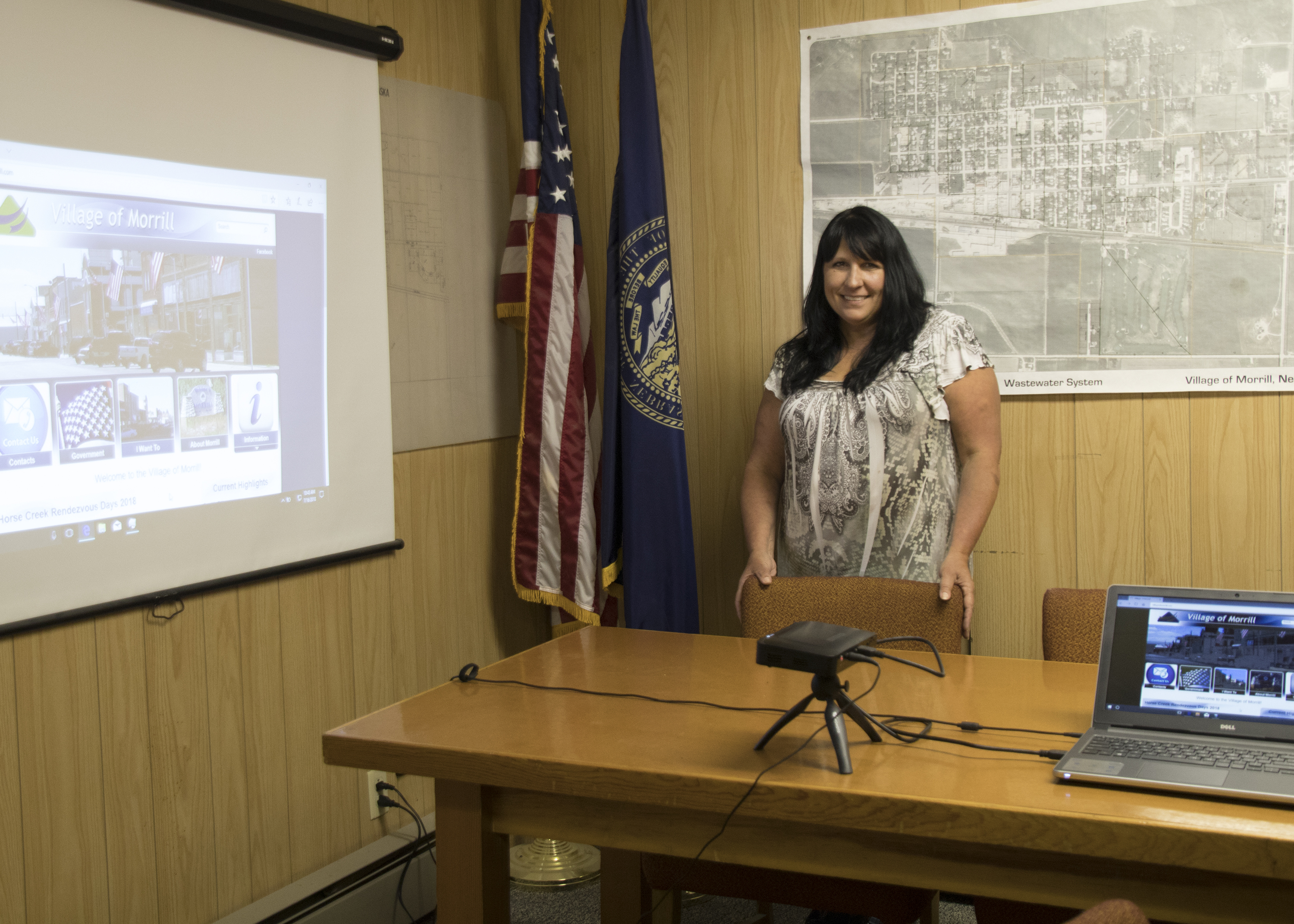Village of Morrill makes use of new projector