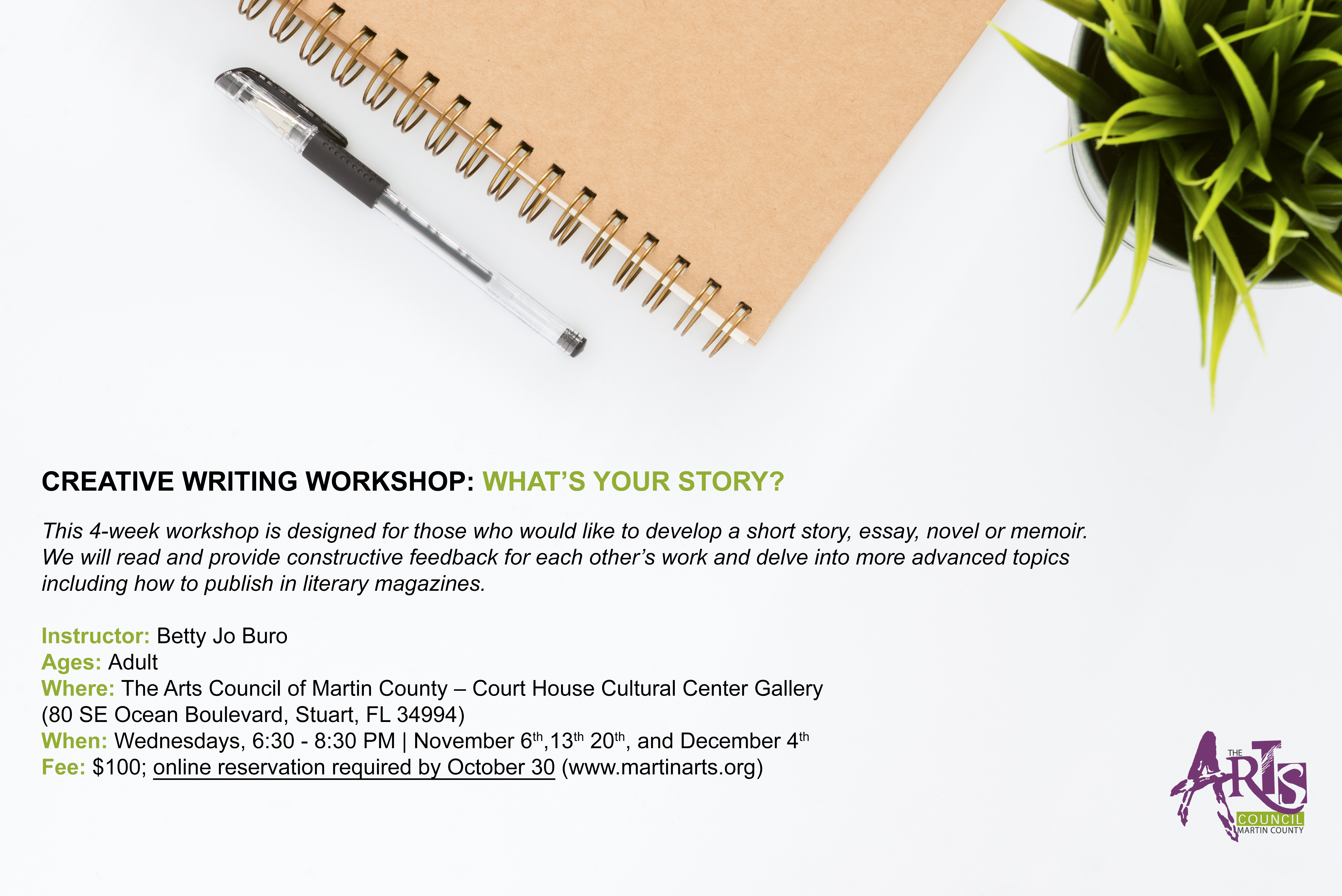 Creative Writing Workshop: What's Your Story?