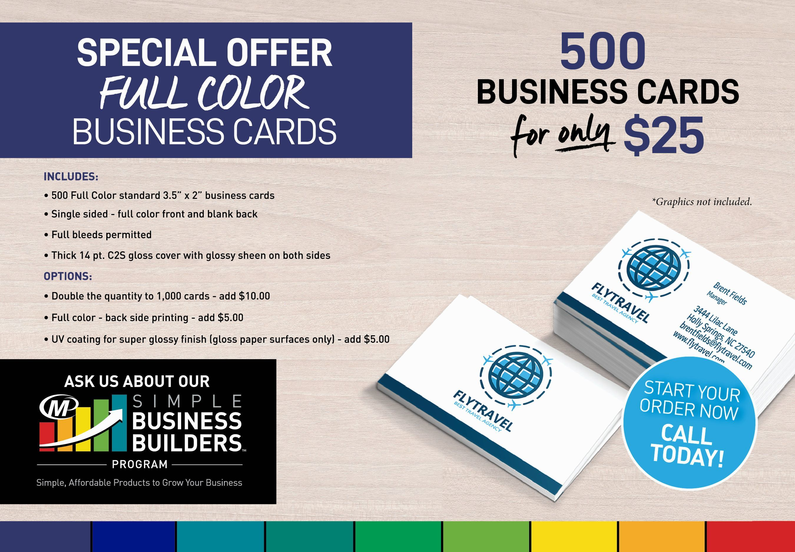 Special Offer on Business Cards