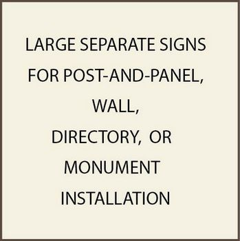 Large Commercial Post-and-Panel and Wall Signs