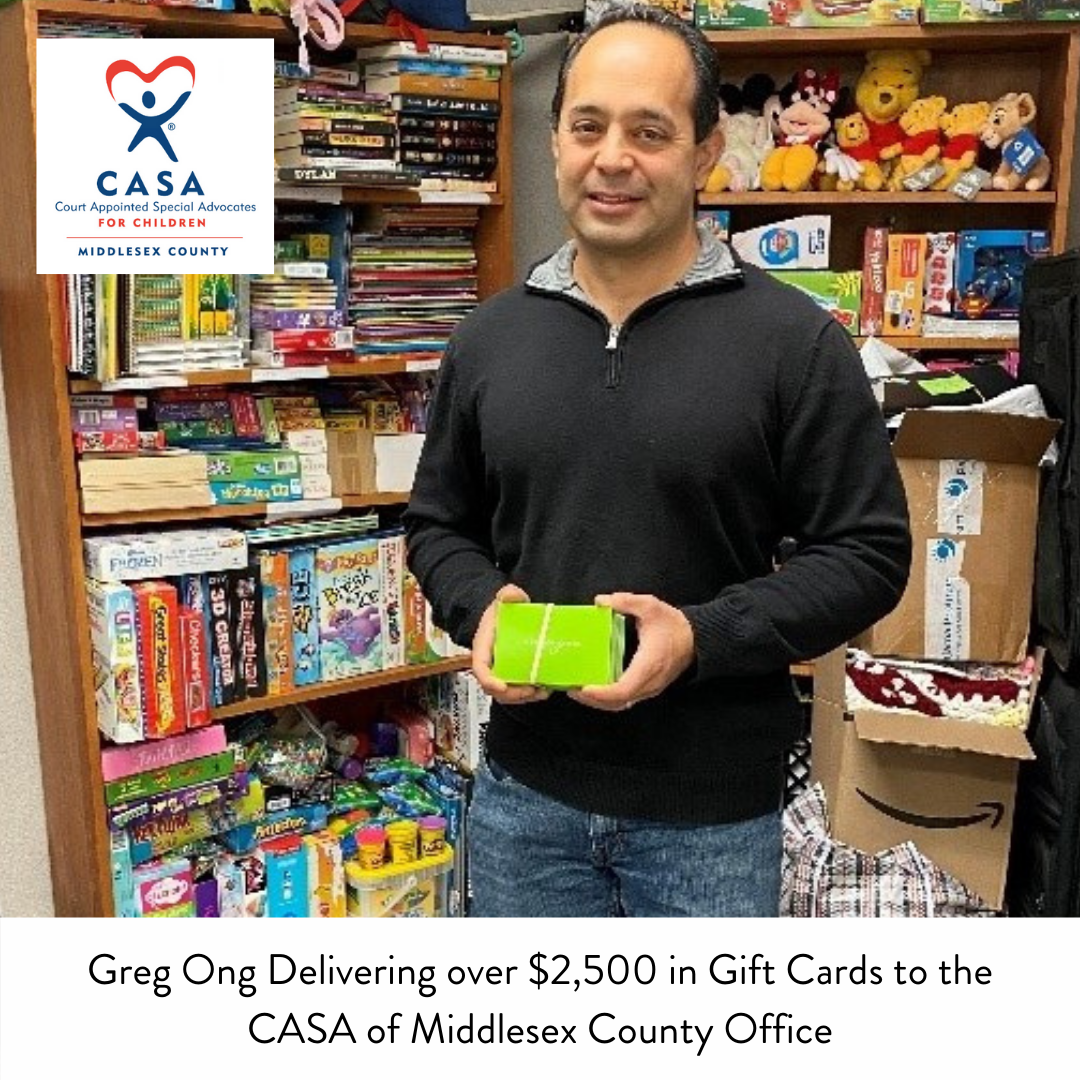 Middlesex Family Donates Thousands in Gift Cards to CASA