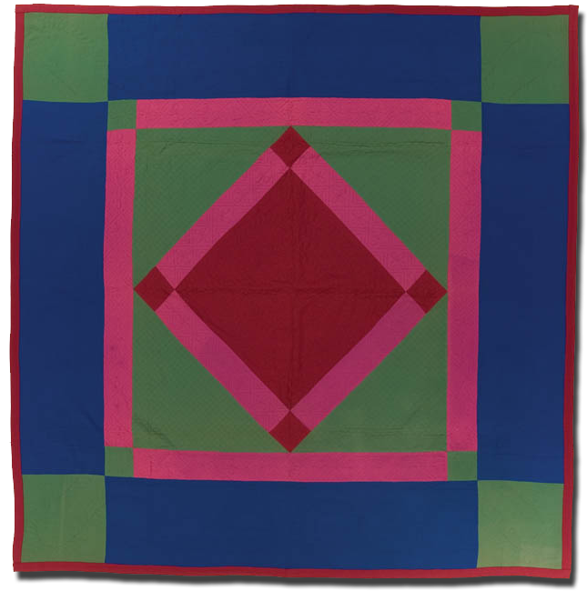 Center Diamond, Maker unknown, Probably made in Pennsylvania, United States, Circa 1935, 83 x 81.5 in, IQSC 2003.003.0087