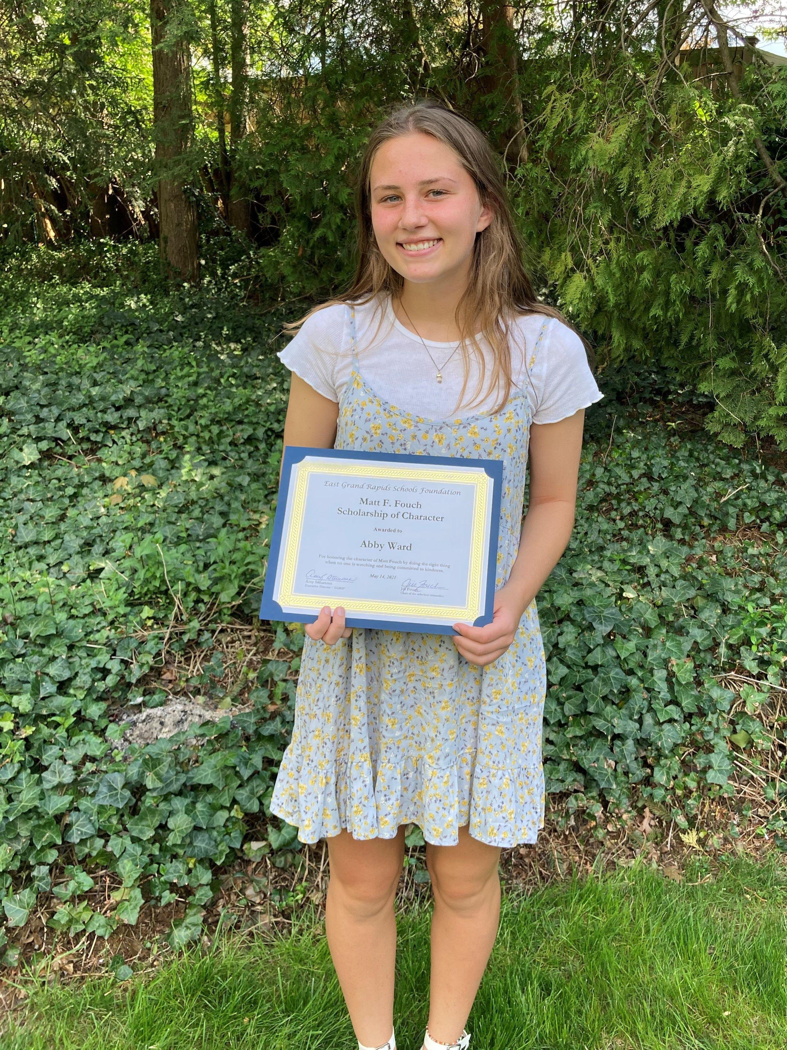 Abby Ward -  Matt F. Fouch Scholarship of Character
