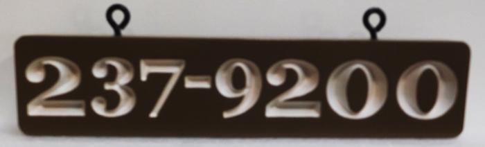 I18913 - Rustic Engraved Cedar Address Number Sign.
