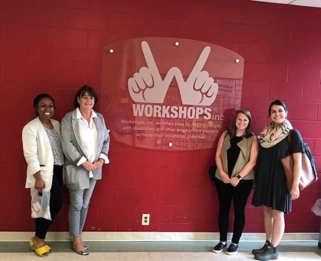 Our neighbors at Pepper Place, the folks from Peritus Public Relations, came by to tour as part of United Way's 2018 Campaign. They were so engaged! Asked great questions, made good observations - and one of these lovely folks may be joining our Junior Bo