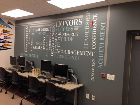 Wall graphics for colleges in Orange County