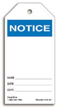 Blank Notice Tag