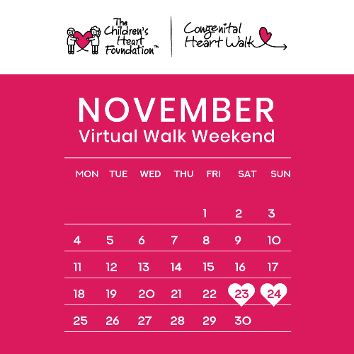 Virtual Congenital Heart Walk Weekend