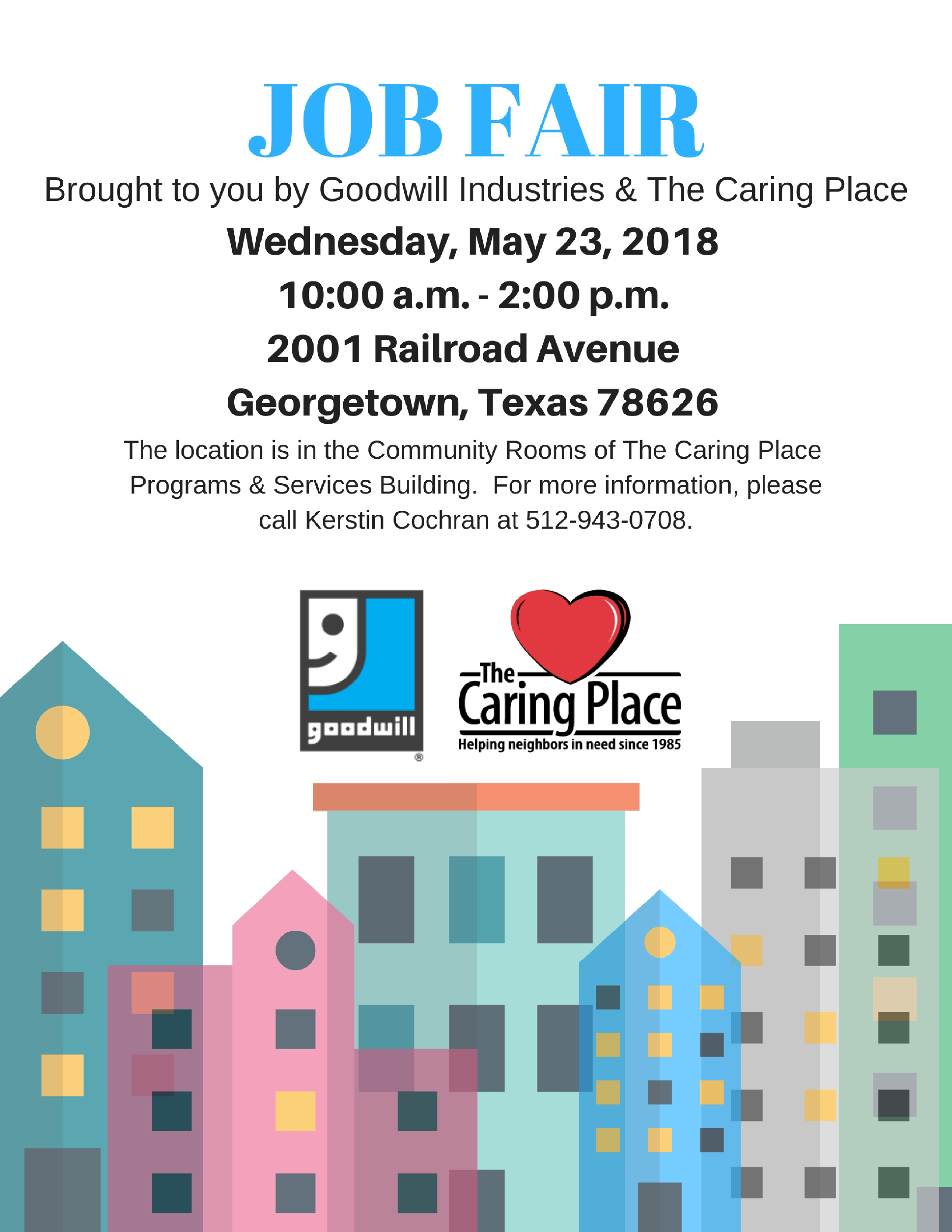 The Caring Place and Goodwill Partner on Upcoming Job Fair