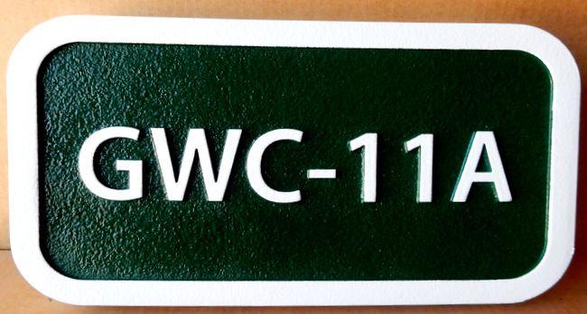 G16173 - Sandblasted HDU Sign for Trailer Park or Campsite