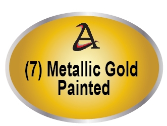 M7410 - (7) Metallic Gold  Painted Plaques