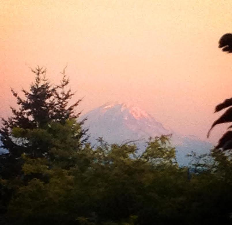 Mt. Rainier from Mom's Deck