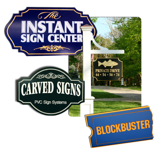 CARVED URETHANE/WOOD SIGNS