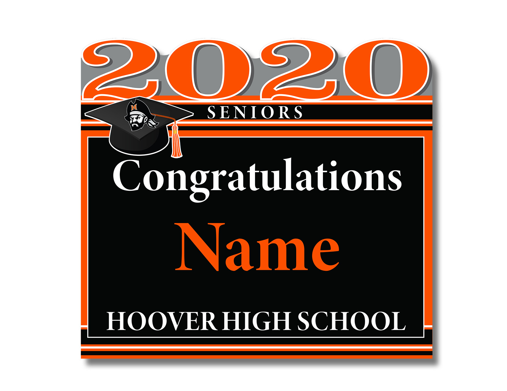 Hoover 2020 Senior Sign