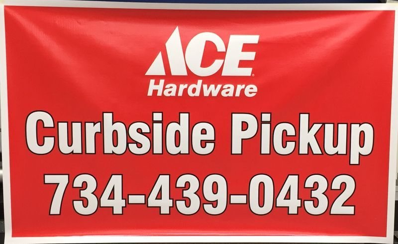 Ace Hardware Curbside Pickup Banner