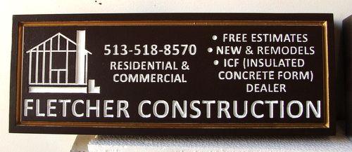 E14571 - Engraved HDU Golf Hole Sponsor Sign