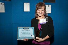 Faith Davis Accepting Award