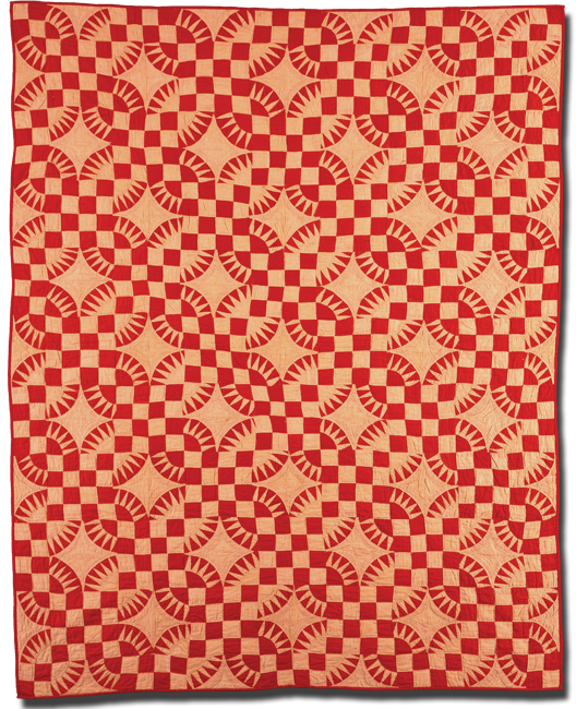Dogwood Blossom, Maker unknown, Probably made in Midwestern United States, Circa 1928, 88 x 67.5 in, IQSC 1997.007.0851