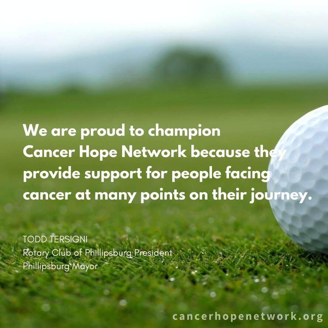 Phillipsburg Rotary Hosts Golf Tournament to Benefit Cancer Hope Network