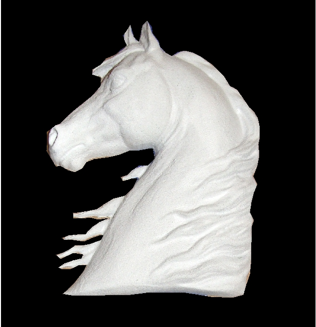 P25825 - 3D Carved Arabian Horse Head Applique