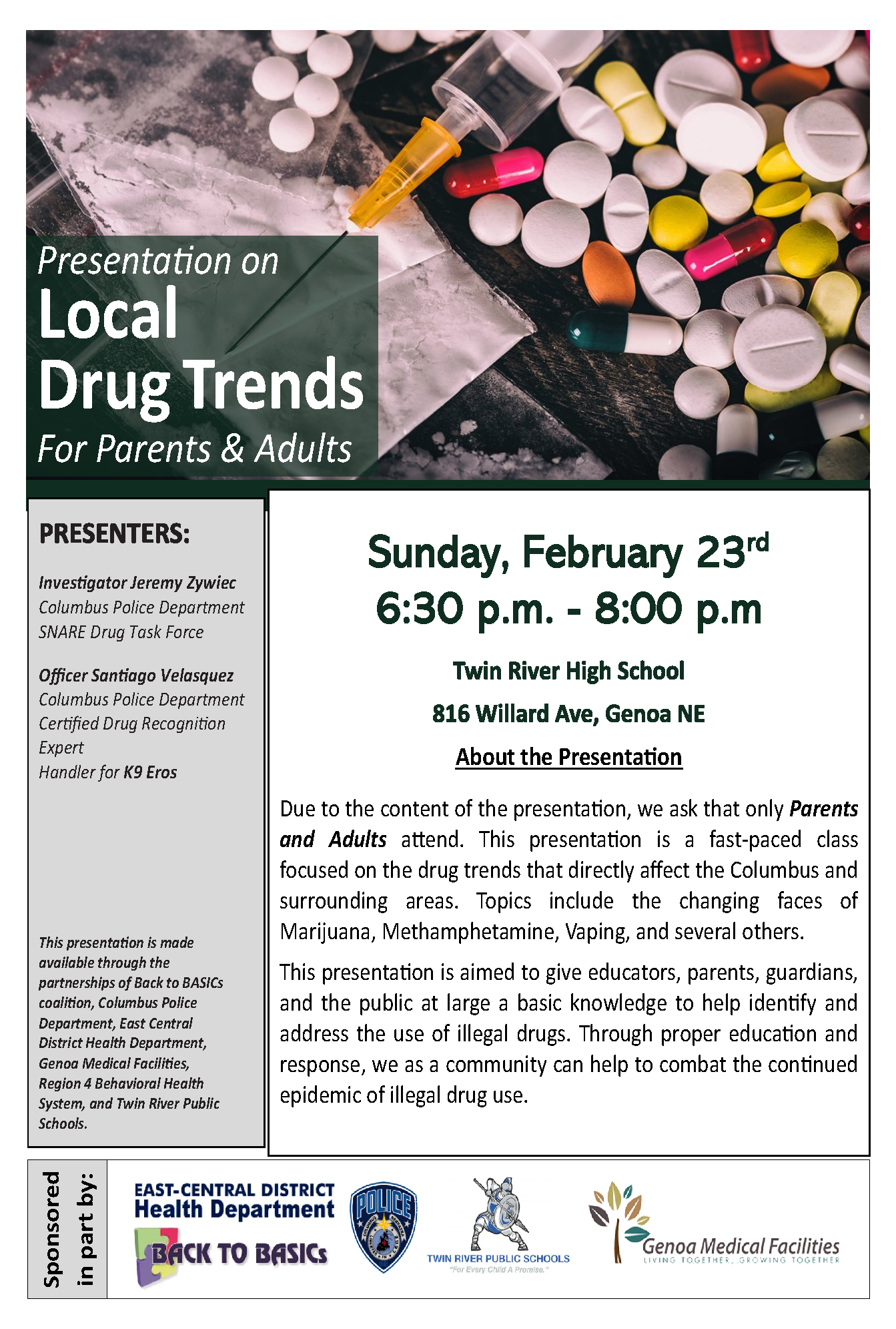 Local Drug Trends for Parents and Adults