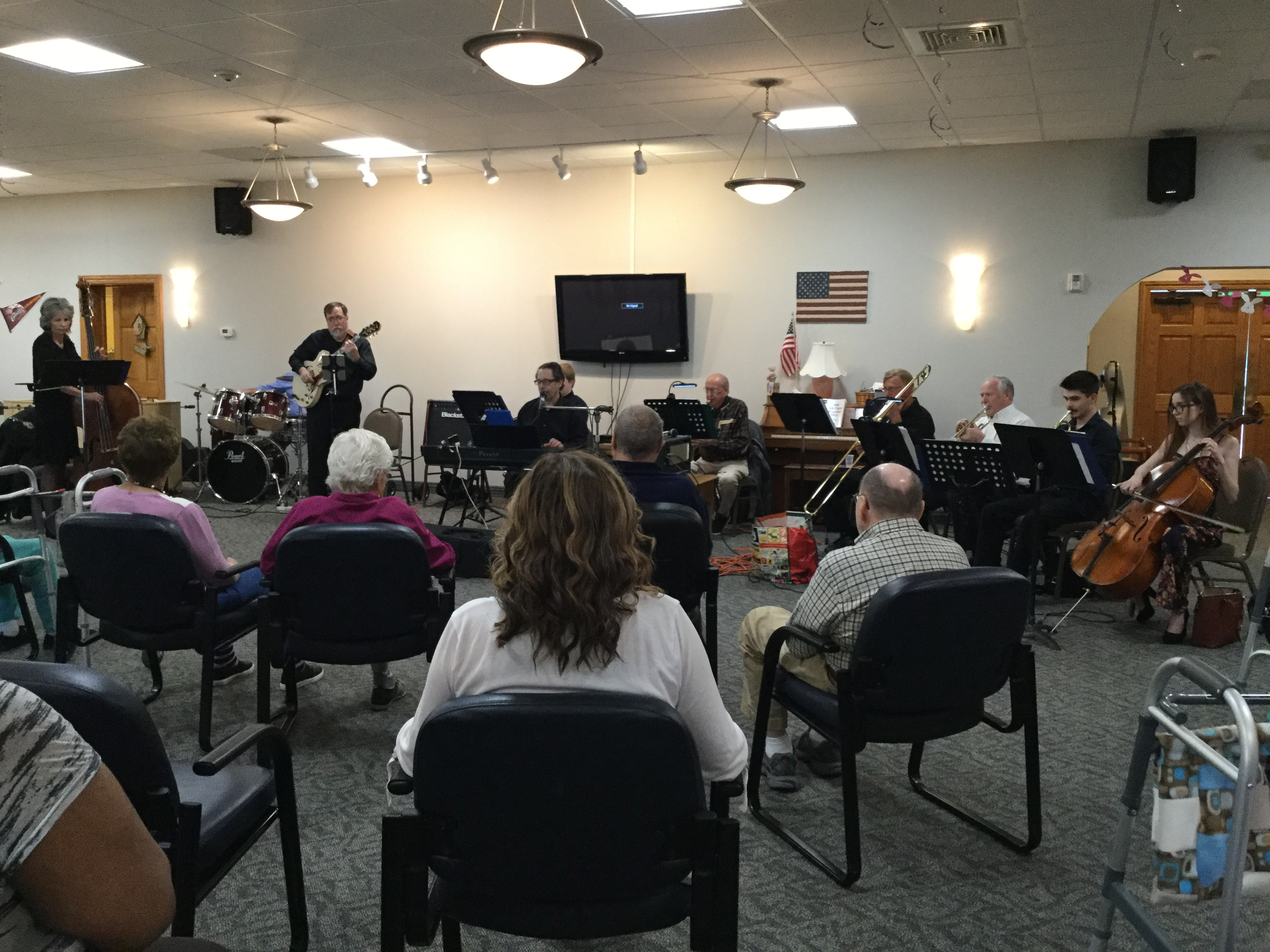 Steve Dallas and his band entertain our members of our Adult Day Center regularly