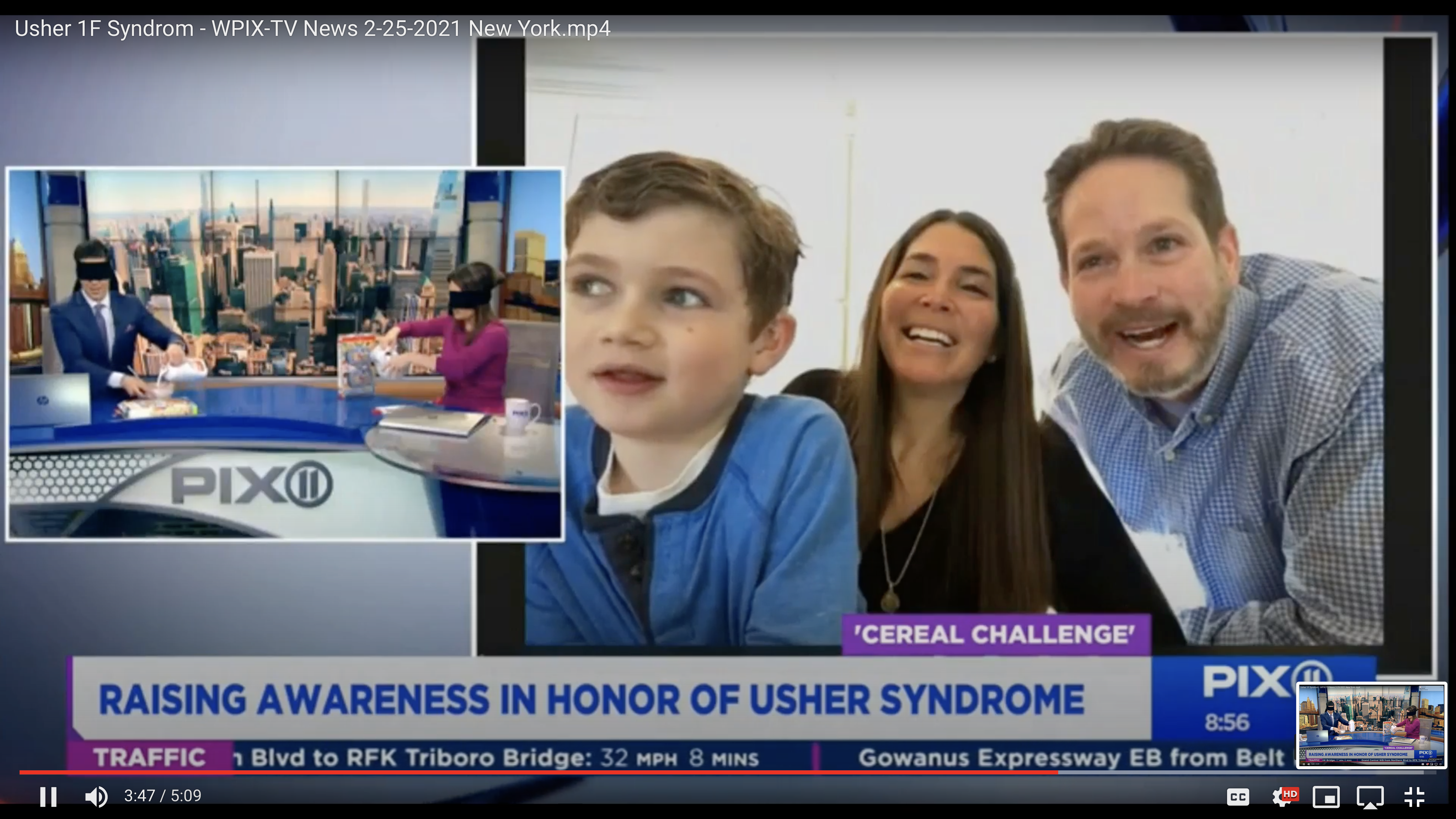 NY PIX 11 News Coverage of the Usher 1F Cereal Challenge