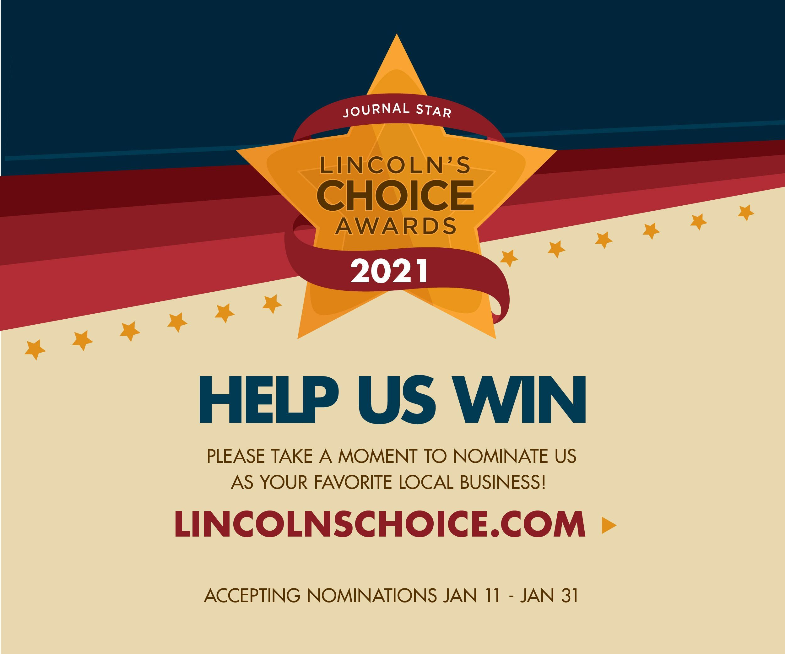 Nominate Tabitha Daily for Lincoln's Choice Awards