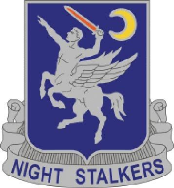 "MP-2280 - Carved Plaque of the Insignia of a Unit ""Night Stalkers""  of the US Army,  Artist Painted"