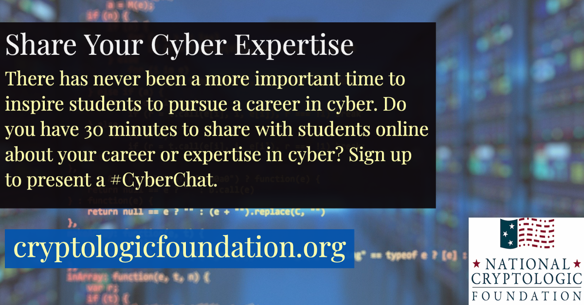 Share Your Cyber Expertise