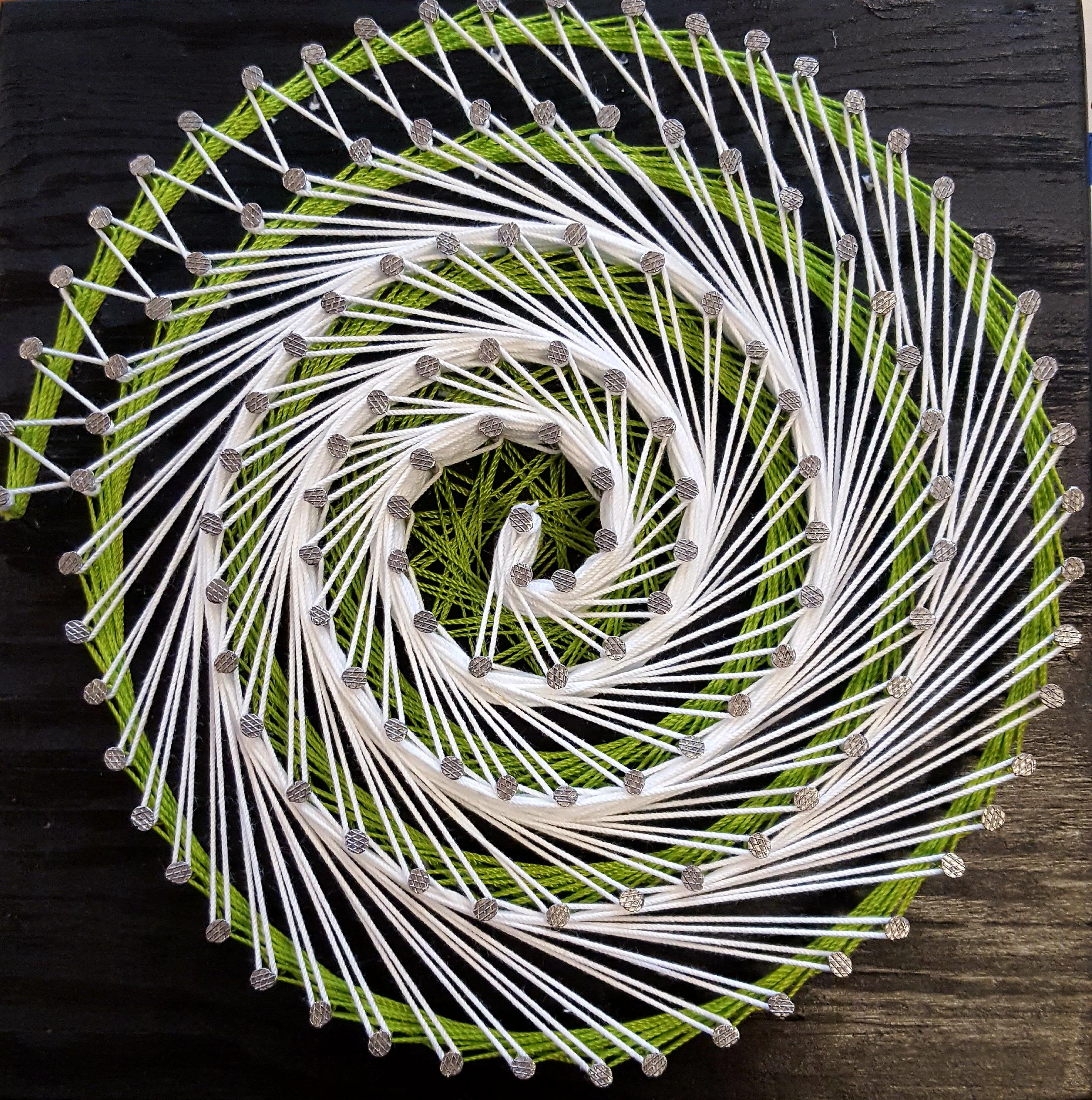 Spiral String Art