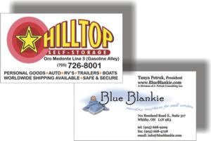 Business Cards Printing by CustomPrinting.ca & Brooklin Signs