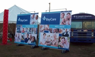 Outdoor Banner with Stand