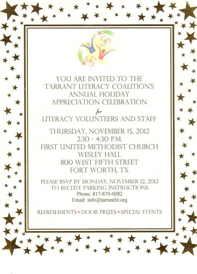 You are invited to the Holiday Celebration