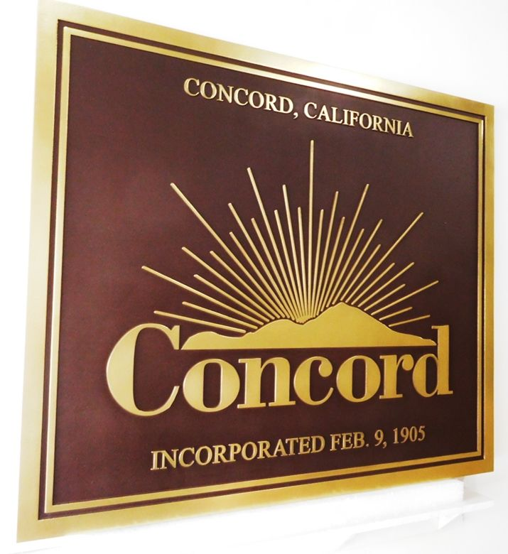 C12004 - Carved Concord  Financial Adviser  Group Sign, with raised Text and Artwork