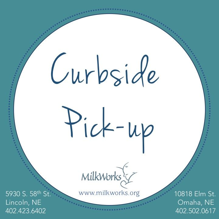 Curbside pick up of breast pumps, breastfeeding supplies & all retail items