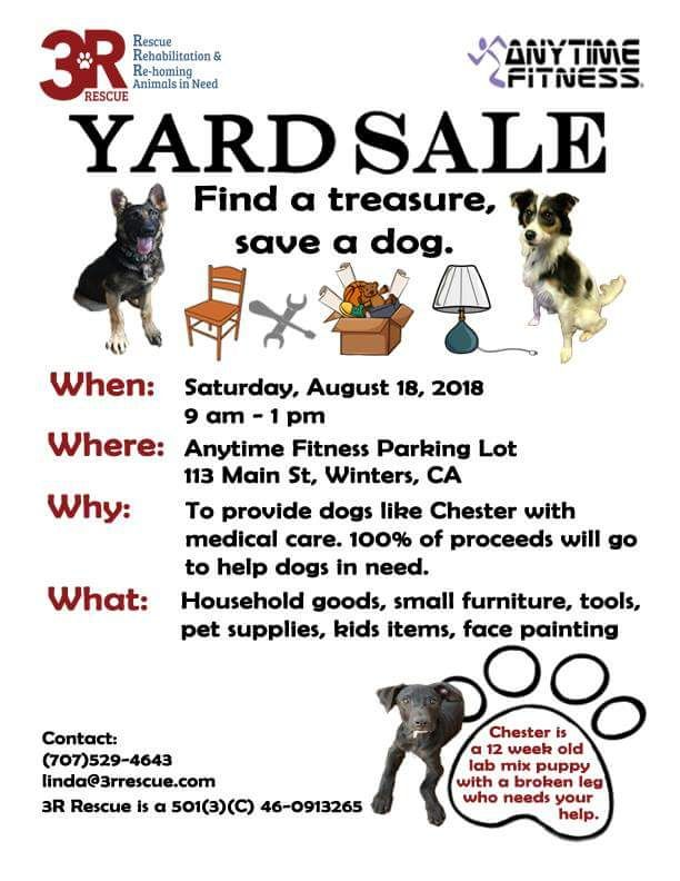 Yard Sale for 3R Rescue