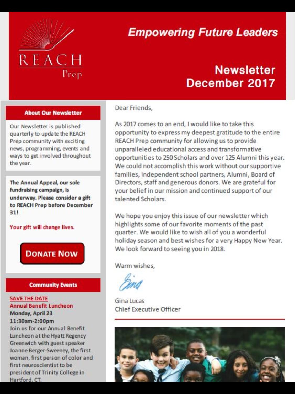 Newsletter: December 2017