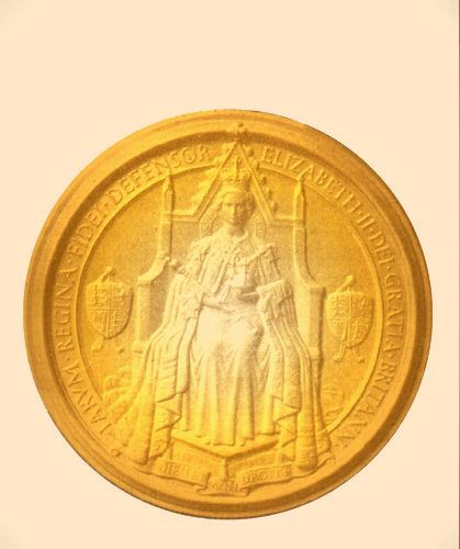 U30083 - Carved Wooden Wall Plaque of the Great Seal of the UK, with Queen Elizabeth II on her Throne