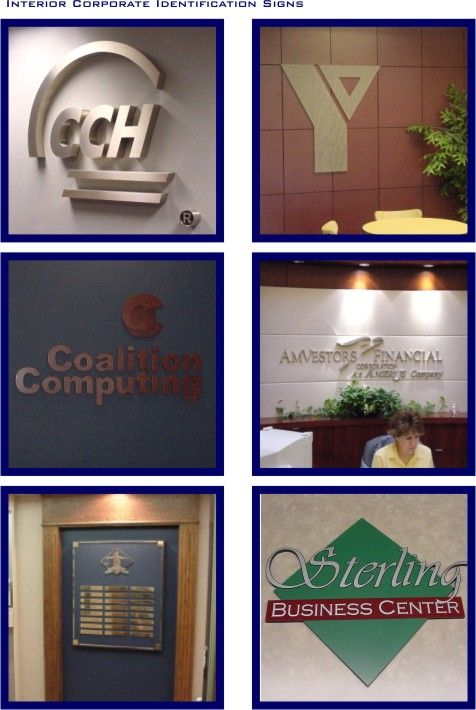 Interior Corporate Identification Signs