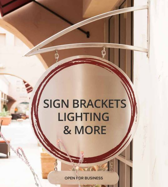 Sign Brackets, Lighting & More